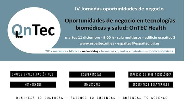 Jornada Oportunidades de negocio en tecnologías biomédicas y salud